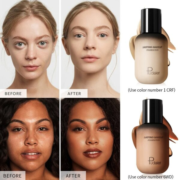 Pudaier 40ml Matte Makeup Foundation Cream for Face Professional Concealing Make up Tonal Base high coverage 1