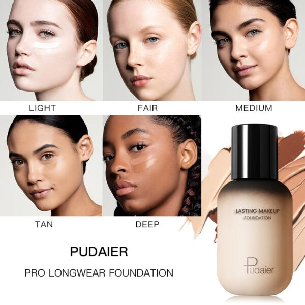 Pudaier 40ml Matte Makeup Foundation Cream for Face Professional Concealing Make up Tonal Base high coverage 2