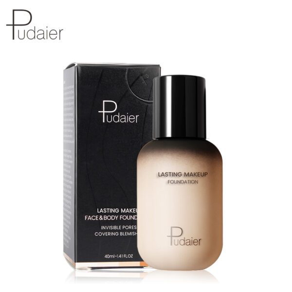 Pudaier 40ml Matte Makeup Foundation Cream for Face Professional Concealing Make up Tonal Base high coverage 5