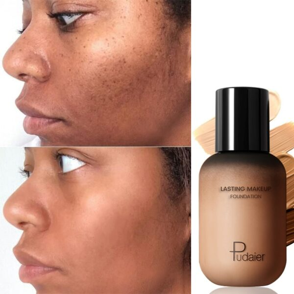 Pudaier 40ml Matte Makeup Foundation Cream for Face Professional Concealing Make up Tonal Base high coverage