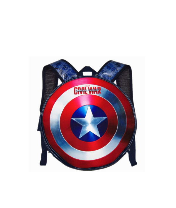 Souvenir PU Leather Captain America Backpack Team Usa Slotted Shield Student Bag Marvel Overflowing Wei Authentic