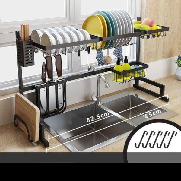 Stainless Steel Sink Drain Rack Kitchen Shelf Two story Floor Sink Sink Rack Dish Rack Kitchen 1 1.jpg 640x640 1 1