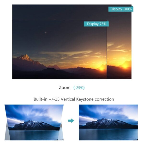ThundeaL GP70 Upgrade TD80 Mini LED Projector 1280x720 Portable HD HDMI Video C80 3D LCD TD80 3