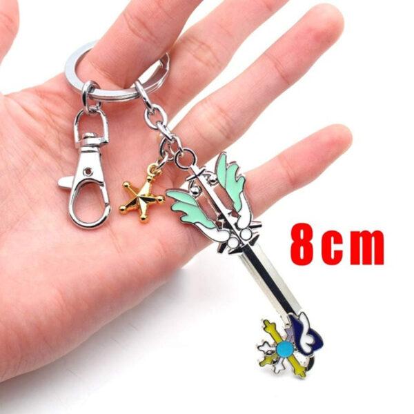 Wellcomics Game Kingdom Hearts Sora Key Keyblade Paopu Fruit Weapon Gold Metal Handmade Pendant Keychain Keyring 3 1.jpg 640x640 3 1