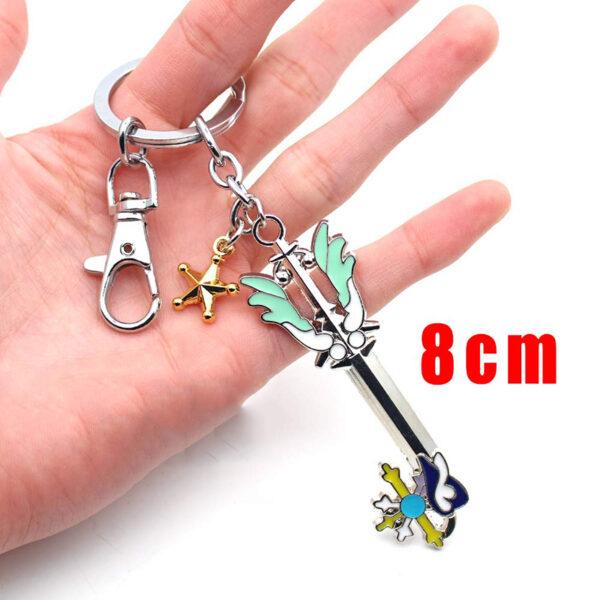 Wellcomics Game Kingdom Hearts Sora Key Keyblade Paopu Fruit Weapon Gold Metal Handmade Pendant Keychain Keyring 4 1