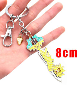 Gold Metal Keyblade Keychain Collectable, Gold Metal Keyblade Keychain Collectable
