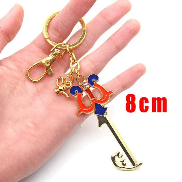 Wellcomics Game Kingdom Hearts Sora Key Keyblade Paopu Fruit Weapon Gold Metal Handmade Pendant Keychain Keyring 6 1.jpg 640x640 6 1