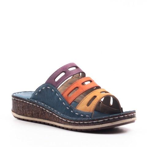 Stitching Sandals, Women Chic Three-Color Stitching Sandals
