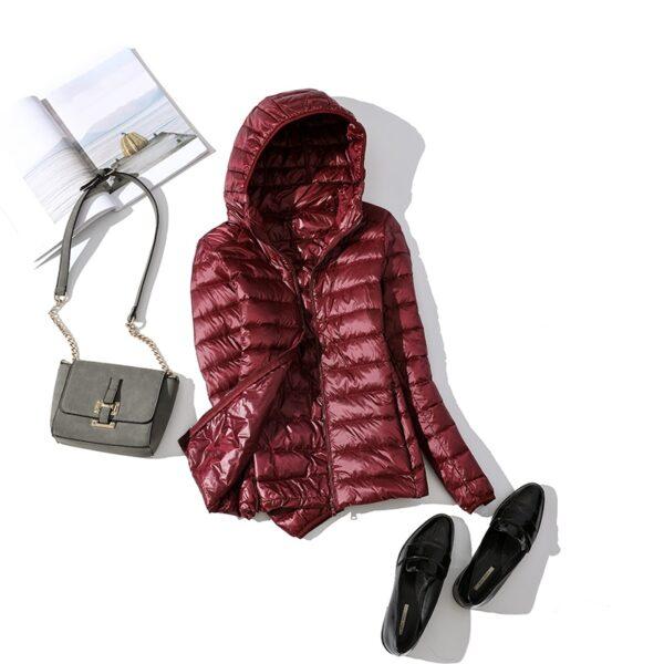 Women Winter Ultra Light 90 White Duck Down Jacket Fashion Casual Female Outerwear Plus Size Waterproof 2