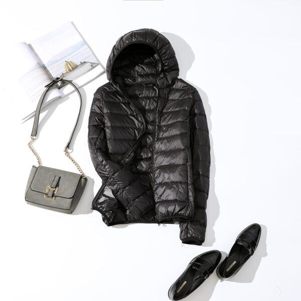 Women Winter Ultra Light 90 White Duck Down Jacket Fashion Casual Female Outerwear Plus Size Waterproof 4