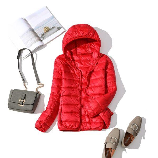 Women Winter Ultra Light 90 White Duck Down Jacket Fashion Casual Female Outerwear Plus Size Waterproof 5