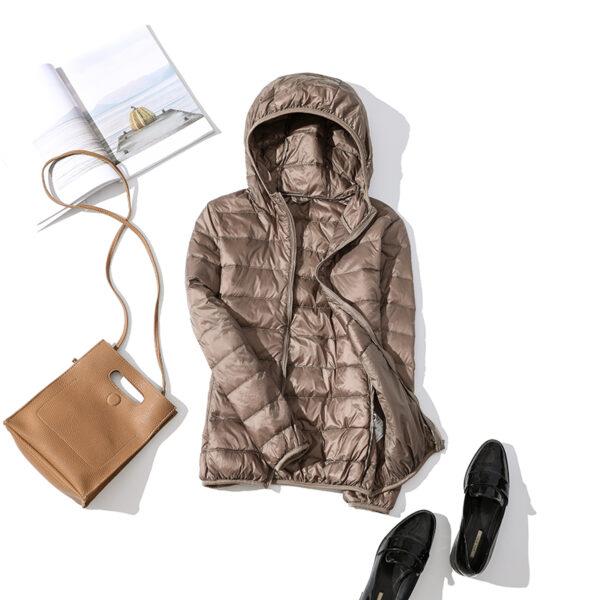 Women Winter Ultra Light 90 White Duck Down Jacket Fashion Casual Female Outerwear Plus Size Waterproof