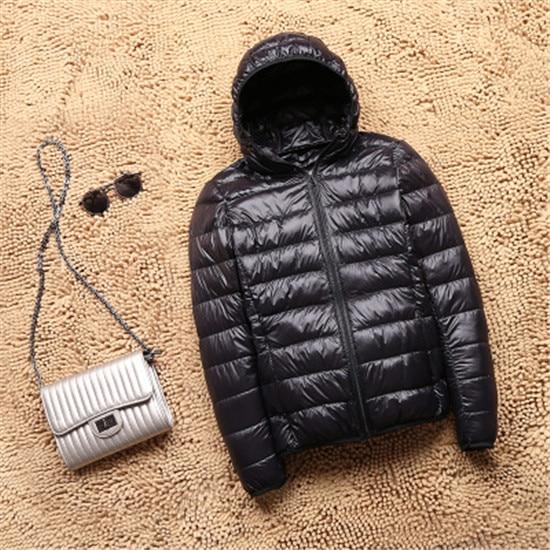 Women Winter Ultra Light 90 White Duck Down Jacket Fashion Casual Female Outerwear Plus Size