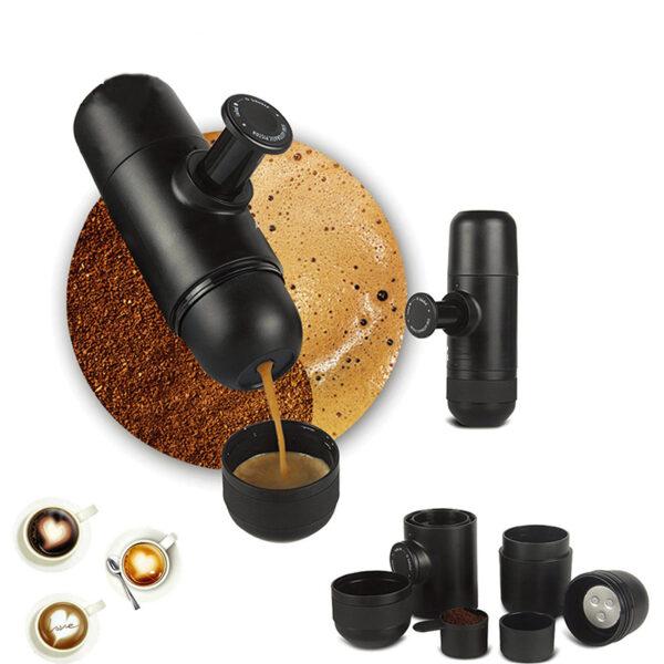 YRP Mini YuroPress Portable Coffee Maker Manual Coffee Espresso Capsule Powder Machine Office Outdoor Travel Hand 5 1