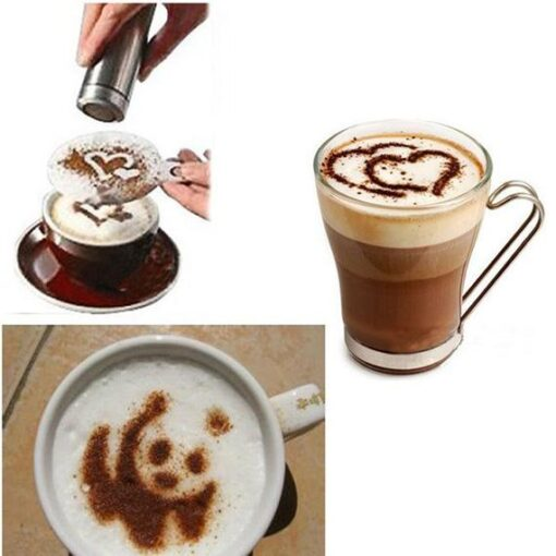 Stainless Coffee Sifter Stencils, Stainless Coffee Sifter & Stencils