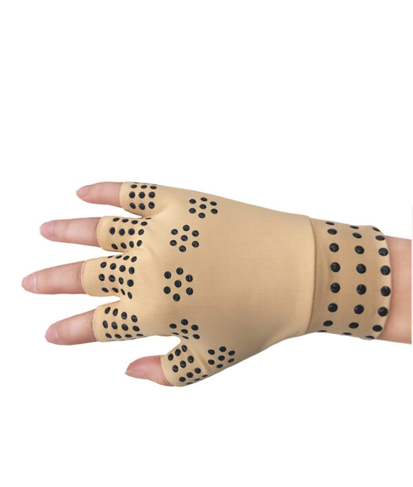 1 Pair Magnetic Therapy Fingerless Gloves Arthritis Pain Relief Heal Joints Braces Supports Health Care Tool 10