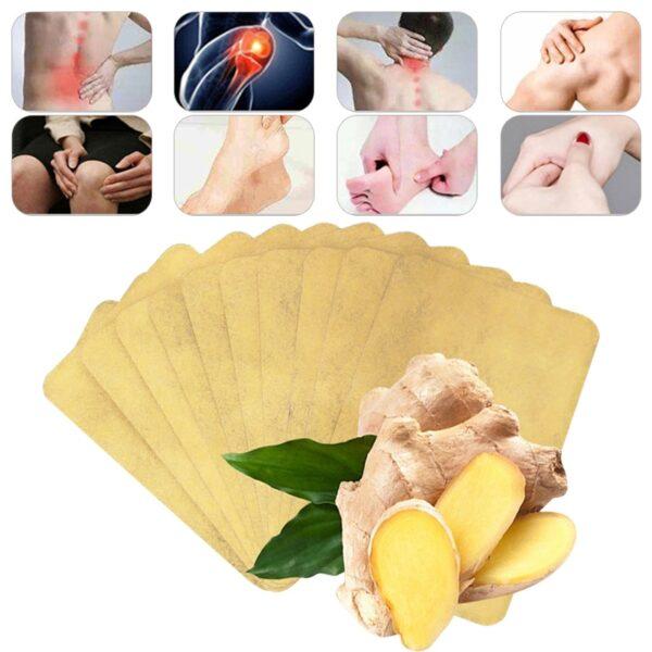 10pcs Lot Ginger Neck Kudzoka Pain Plaster Patch Muviri Warmer Sticker Kuzvidziyisa 12h Patch Nguva yechando 4