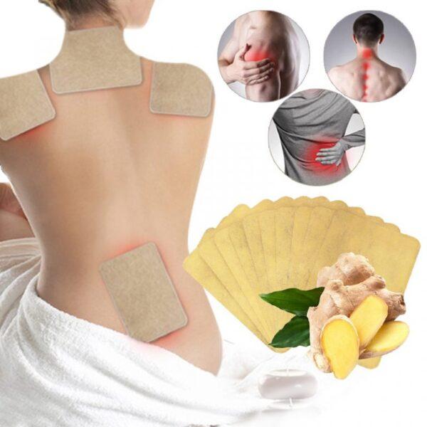 10pcs Lot Ginger Neck Kudzoka Pain Plaster Patch Muviri Warmer Sticker Kuzvidziyisa 12h Patch Nguva yechando 768x768 1