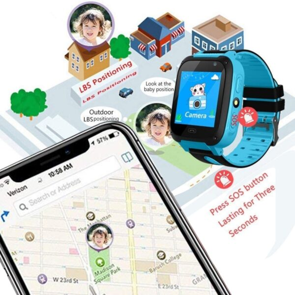 2019 Smart Watch Micro SIM Card Call Tracker Child Camera Anti lost Position Alarm Smart Watch 4