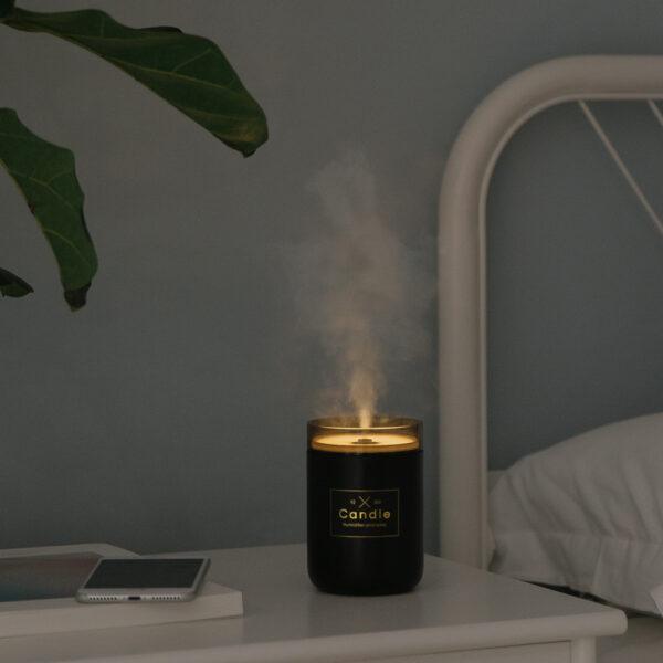 280ML Ultrasonic Air Humidifier Candle Romantic Soft Light USB Essential Oil Diffuser Car Purifier Aroma Anion 3