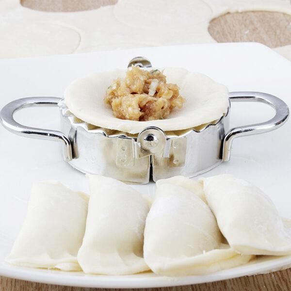 2Pcs set Stainless Steel Dough Presser Dumpling Mold Maker Wraper Cutter Pie Ravioli Dumplings Mold Pastry 4