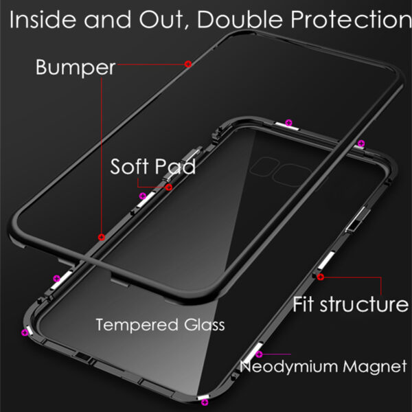 360 Magnetic Adsorption Phone Cases for Samsung Galaxy S10 Lite S9 S8 Plus S7 Edge A6 4