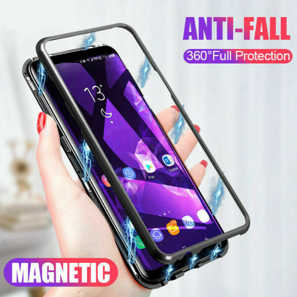 360 Magnetic Adsorption Phone Cases for Samsung Galaxy S10 Lite S9 S8 Plus S7 Edge A6 6