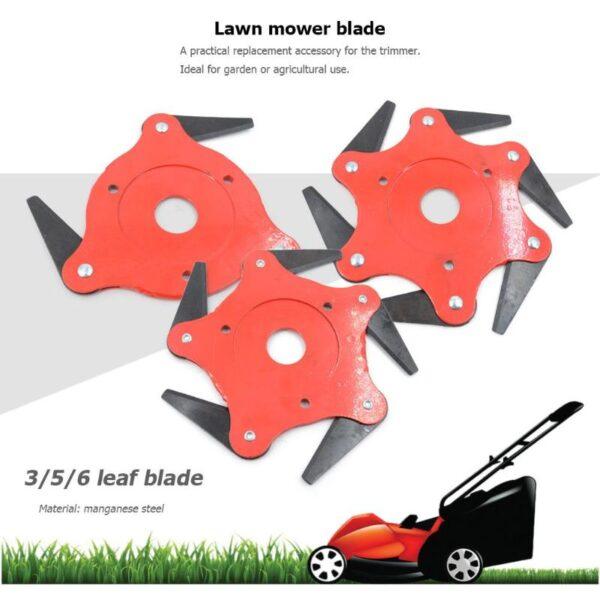 3T 5T 6T Garden Lawn Mower Blade Manganese Steel Grass Trimmer Brush Cutter Head 1