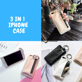 IPHONE Case with Leather Pouch and Keyring, Iphone Case With Leather Pouch and Keyring