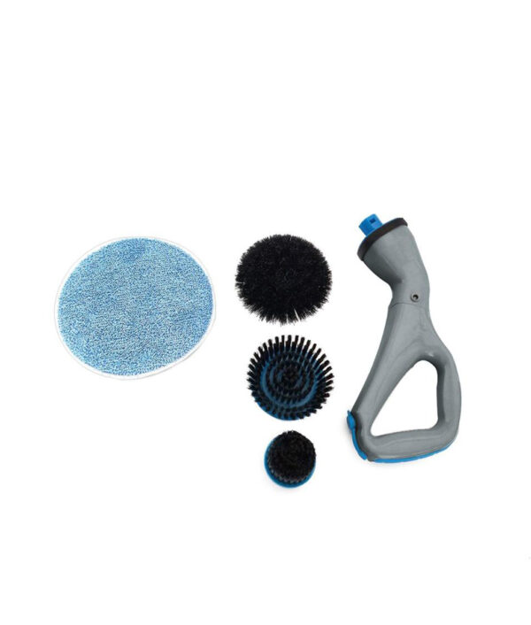 4 Pcs Cordless Hurricane Muscle Scrubber Electrical Cleaning Brush with Brush Heads Bathroom Surface Bathtub Shower 2 1