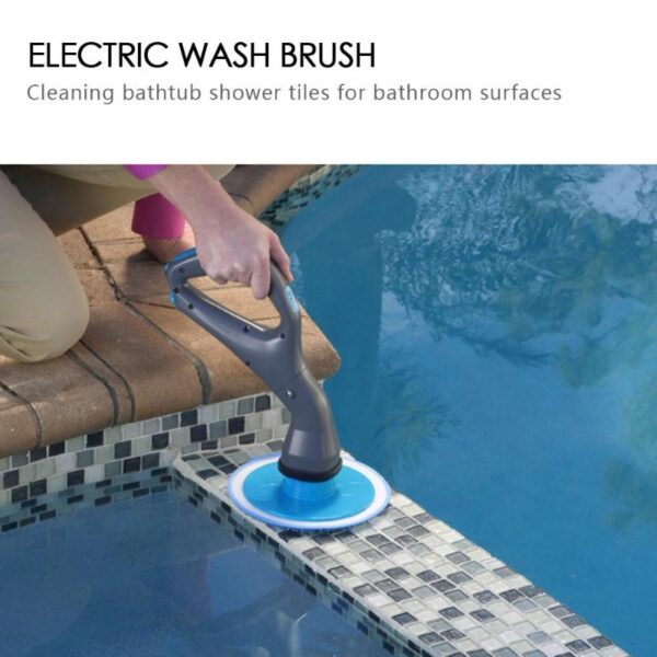 4 Pcs Cordless Hurricane Muscle Scrubber Electrical Cleaning Brush with Brush Heads Bathroom Surface Bathtub Shower 3