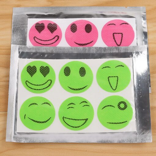 Mga Smiley Anti-Mosquito Sticker, Smiley Anti-Mosquito Sticker 60pcs
