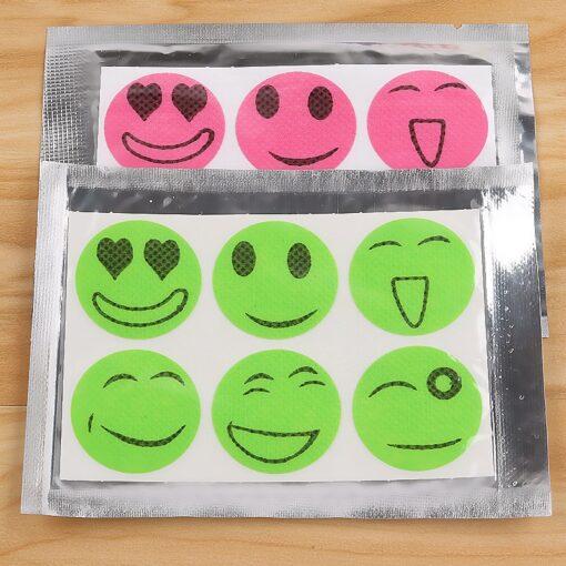 Smiley Anti-Mosquito Stickers, Smiley Anti-Mosquito Stickers 60pcs