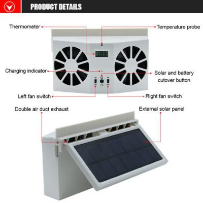 Solar Car Exhaust Heat Exhaust Fan, Solar Car Exhaust Heat Exhaust Fan