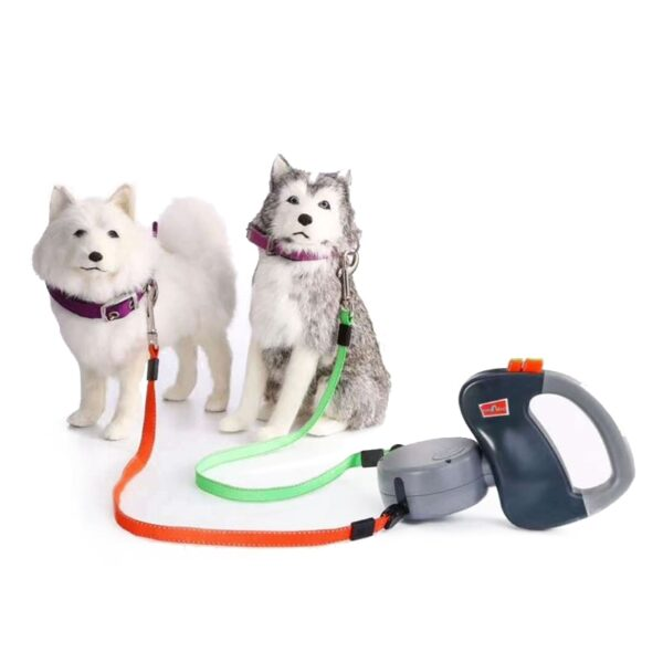 ABS Automatic Retractable Traction Rope With Two headed Ccreative Dog Leash Dog Chain Pet Supplies dog 1
