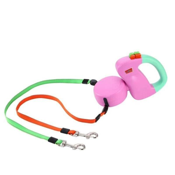 ABS Automatic Retractable Traction Rope With Two headed Ccreative Dog Leash Dog Chain Pet Supplies dog 4