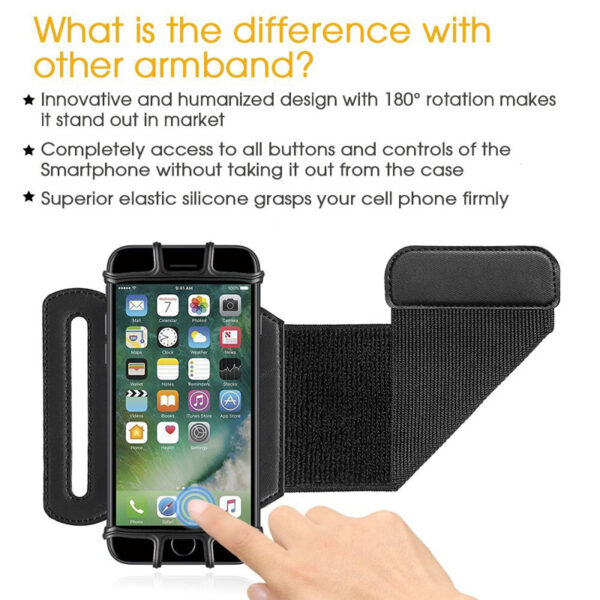AHHROOU Sports Armband Case for iPhone X 8 7 8 Plus 7 Plus Universal Wrist Running 1