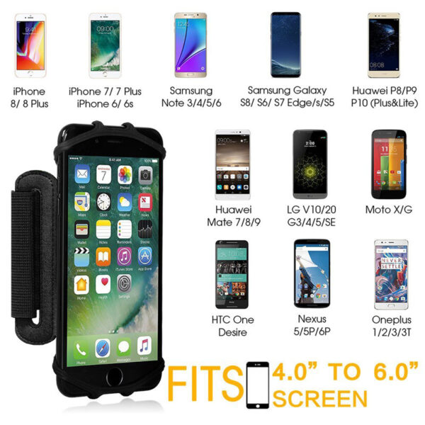 AHHROOU Sports Armband Case for iPhone X 8 7 8 Plus 7 Plus Universal Wrist Running 2