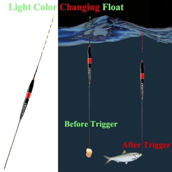 Akıllı Balıkçılık Float Bite Alarm Balık Bite Bait led ışık Renk Değişimi Otomatik Gece Elektronik Değiştirme