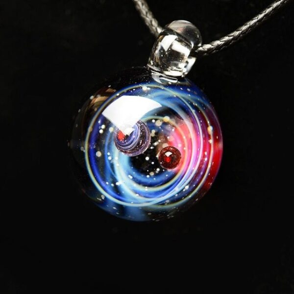 BOEYCJR Universe Glass Bead Planets Pendant Necklace Galaxy Rope Chain Solar System Design Necklace for Women 10.jpg 640x640 10