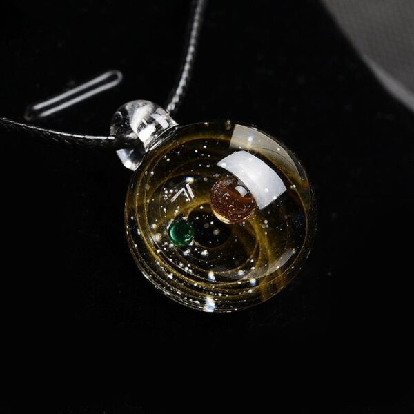BOEYCJR Universe Glass Bead Planets Pendant Necklace Galaxy Rope Chain Solar System Design Necklace for Women 3.jpg 640x640 3