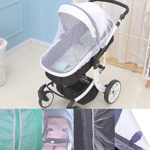 Breathable Mosquito Net For Outdoor Increase Large Encryption Stroller Net Full Cover Type Universal Pushchair Buggy 1