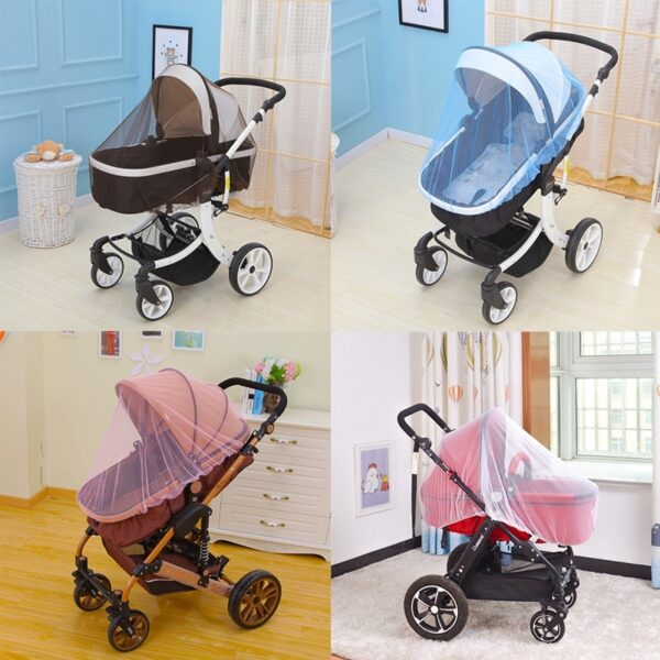 Breathable Mosquito Net For Outdoor Increase Large Encryption Stroller Net Full Cover Type Universal Pushchair Buggy 2