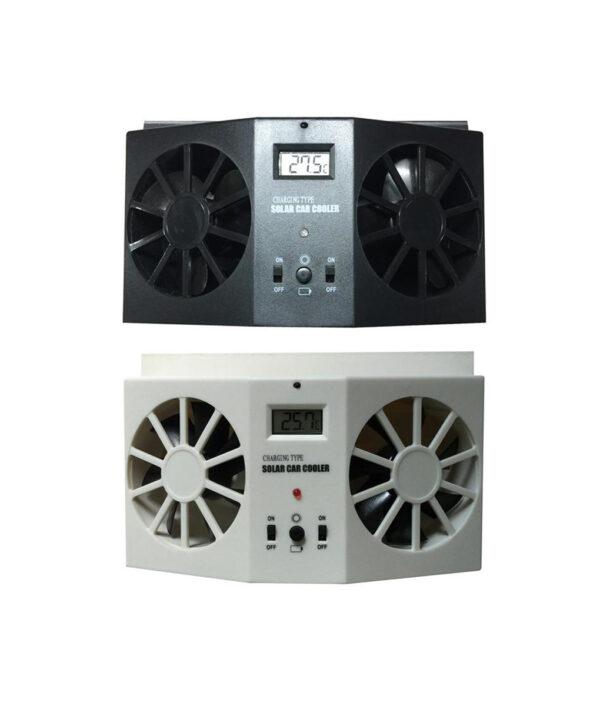 Car Solar Powered Exhaust Fan Car Gills Cooler Auto Ventilation Fan Dual mode Power Supply High 3 1