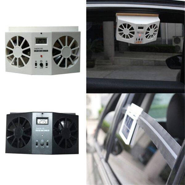 Car Solar Powered Exhaust Fan Car Gills Cooler Auto Ventilation Fan Dual mode Power Supply High