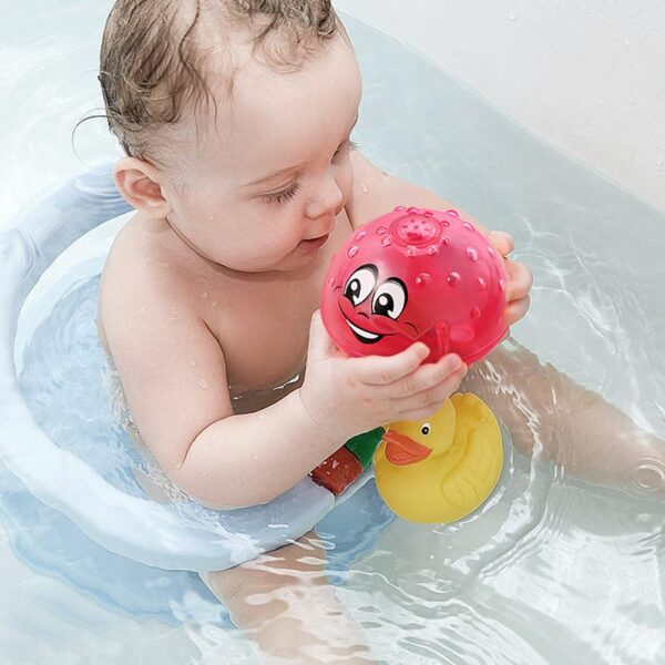 Funny Infant Children s Electric Induction Sprinkler Toy Light Baby Play Bath Toy Water Toys 3