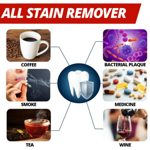 Intensive Stain Removal Whitening Toothpaste Fight Bleeding Gums Toothpaste Passion Fruit Blueberry 3 1