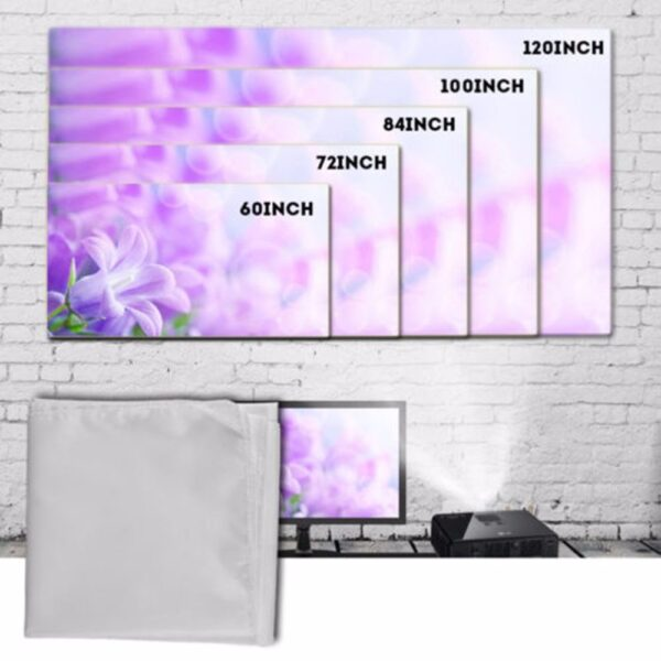 Large 16 9 Foldable Design Home Projection Screen Film Theater Outdoor 60 72 84 100 120 1