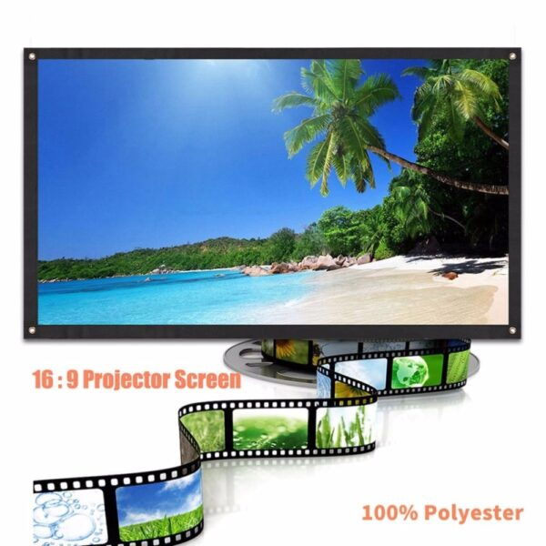 Large 16 9 Foldable Design Home Projection Screen Film Theater Outdoor 60 72 84 100 120 2