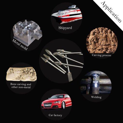 Steel Carbide Rotary Burr Set, Steel Carbide Rotary Burr Set